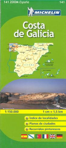 Cartina Spagna Galizia.Spagna Costa Della Galizia Carta Stradale Mappa Geografica Pianta