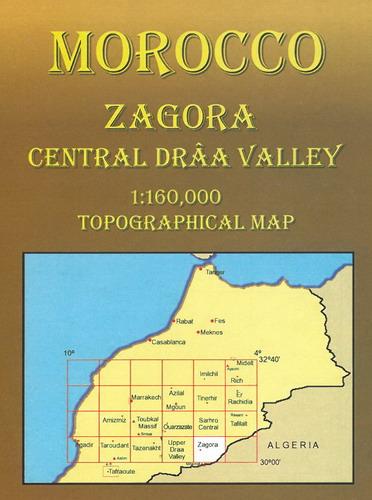 Marocco Cartina Stradale.Marocco Zagora Central Draa Valley Carta Stradale Mappa Geografica Pianta