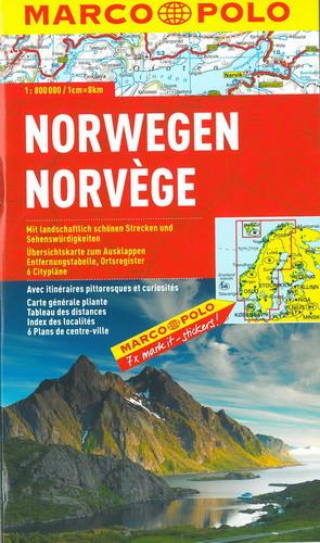 Norvegia Cartina Stradale.Norvegia Carta Stradale Mappa Geografica Pianta
