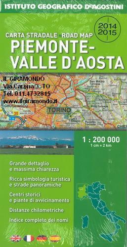 Cartina Geografica Piemonte Valle D Aosta.Piemonte E Valle D Aosta Cartina Carta Stradale Mappa Geografica Pianta