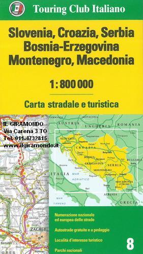 Cartina Geografica Slovenia Croazia Bosnia.Slovenia Croazia Serbia Bosnia Erzegovina Montenegro Macedonia Carta Stradale Mappa Geografica Pianta