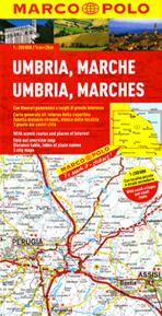 Umbria Marche Cartina.Umbria E Marche Mappa Stradale Carta Stradale Mappa Geografica Pianta