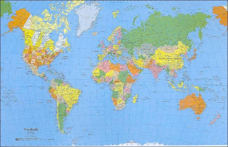 Cartina Mondo Politica Con Capitali.034 Planisfero Politico 50x70 Cm Carta Murale Planisfero Il Giramondo
