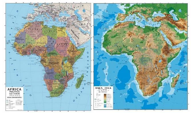 Cartina politica del continente africano my blog for Chambre a coucher 9libia