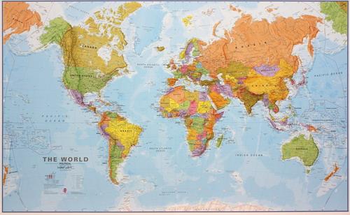 005 planisfero politico 200x120 carta murale planisfero for Carta da parati cartina geografica