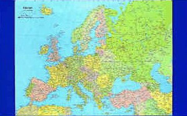 065 europa sottomano da scrivania carta murale planisfero for Cartina europa da colorare