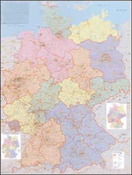 Cartina Cap Germania.130 Germania C A P 140x100 Cm Carta Murale Planisfero Il Giramondo