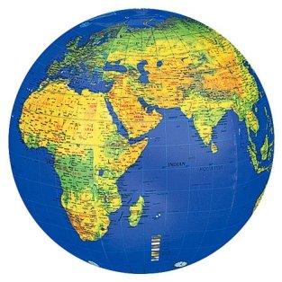 Mappamondo 37 il mondo gonfiabile fisico cm 70 - Mappa del mondo contorno ks2 ...