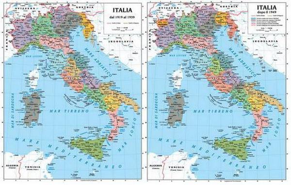 Cartina Politica Italia Prima Guerra Mondiale.143 Carta Italia Storica Prima Della I Guerra Mondiale 1914 E Tra Le Due Guerre Mondiali 1919 1954 Carte Murali Per La Scuola E Materiale Didattico