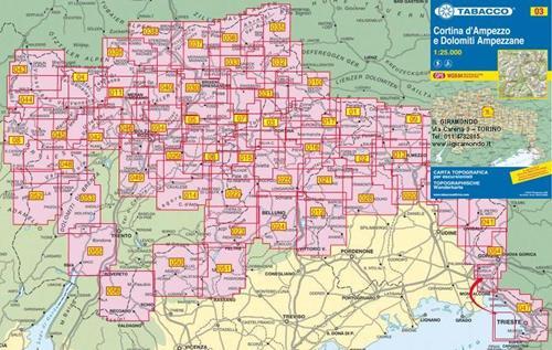 Cartina Geografica Dolomiti.003 Cortina D Ampezzo E Dolomiti Ampezzane Carta Per Il Trekking