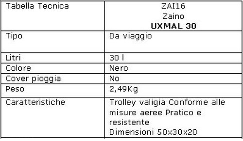 50e7714bd8 Zaino Ferrino UXMAL 30 zaini viaggi e trekking: Il Giramondo